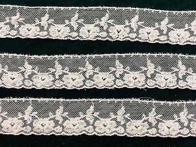 White Embroidered Vintage Net Lace