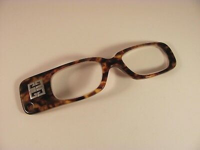 Vintage Givenchy Plus Unico Tortoise Shell Bar RX Eyeglass Frames 43-17