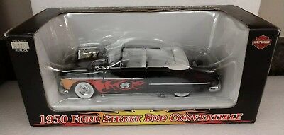 Harley Davidson 1950 Ford Street Rod Convertible Die-Cast 1:24 Scale Brand New