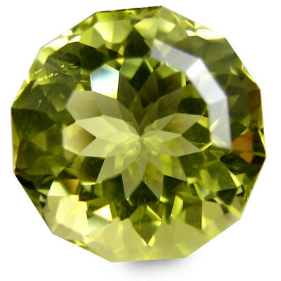 3.36Cts Natural Gorgeous Lemon Quartz 9.5mm Nice Round Custom Cut Gemstone
