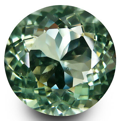 2.89Cts Natural Gorgeous Green Amethyst(Prasiolite) Round 9mm Nice Gemstone