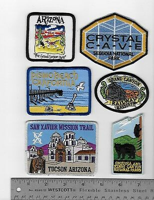 Souvenir Travel Patches Lot of 16 patches. Arizona & California