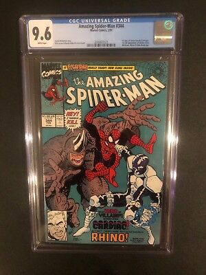 Amazing Spider-Man 344 ! Cgc 9.6 !! 1St Cletus Kasady !! New Case !! White Pages