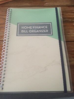 Bill Organizer & Home Finance Book Green Marble Budget New Design! Xmas!!