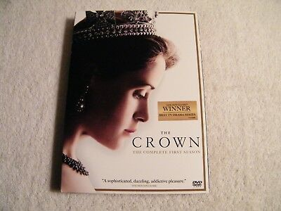 THE CROWN - Season One - DVD SONY ( 4-Disc Set) NEW - 2017 DRAMA