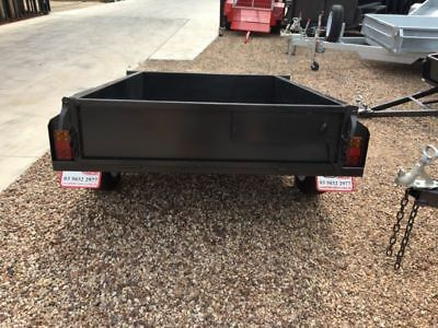 7X4 Single Axle Box Trailer | SMOOTH FLOOR | 750KG | NEW