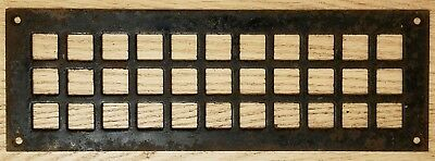 Antique Cast Iron Heat Grate Floor Vent Register Cover 4x12 Victorian Old Square