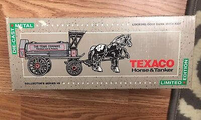 Ertl Die-Cast Texaco Horse and Tanker Bank with Key by  from 1991 NIB