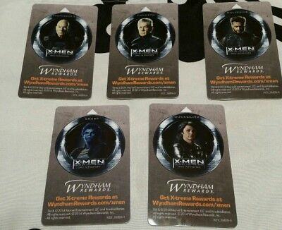 X-Men, Days of Future Past, Collectible, hotel key cards