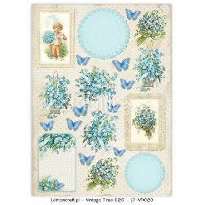 SALE Lemoncraft  Forget Me Not Collection Vintage Time 020 Sheet