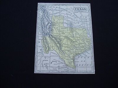 1853 Cowperthwait Map Texas Genuine Antique