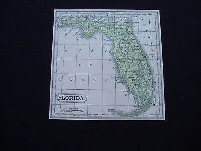 1853 Cowperthwait Map Florida Genuine Antique