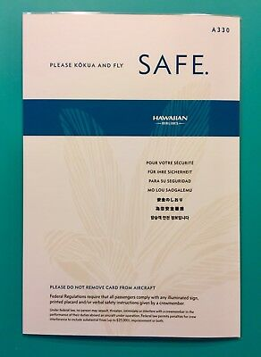 Hawaiian Airlines Safety Card -- Airbus 330