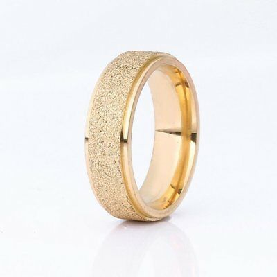 Frosted Titanium Steel Ring Unisex Finger Ring Fashion Women Men Finger Ring Gv