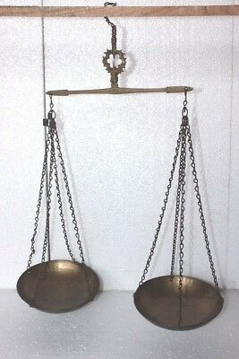 Vintage Antique Brass Double Arm Scale Taraju Weighing Scale Collectible BB-18
