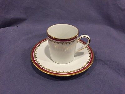 Seltmann Weiden Bavaria demitasse cup and saucer with red and gold trim