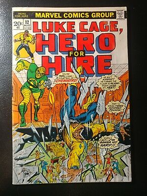 HERO FOR HIRE #12🎅1st APP. CHEMISTRO / WHITE PAGES / 1973