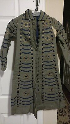 Civil-War Era Child's Coat - Amazing Antique Embroidery and Buttons