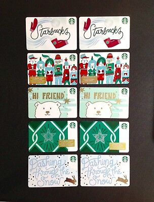 "🇨🇦 & 🇺🇸 Starbucks "" 💎 "" Marker Recycled Paper Gift Card ----- Lot Of 10 Pcs"