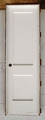 """3 avail PRE-HUNG 24""""x80"""" Antique Vintage Interior Wood Wooden Door 2 Panel Frame"""