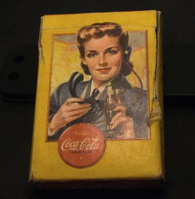 VINTAGE 1940's WW2 COCA'COLA AIRPLANE SPOTTER PLAYING CARDS