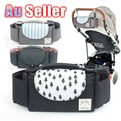 Baby Pram Bottle Holder Stroller Pushchair Buggy Storage Organiser Cup Mummy Bag