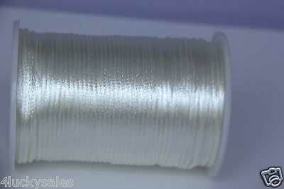 Hot 10yd silver 2MM Rattail Satin Cord Macrame Beading Nylon Chinese knot rope