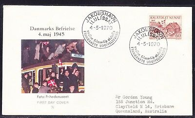 Greenland 1970 Liberation 25th Anniversary First Day Cover to  Australia