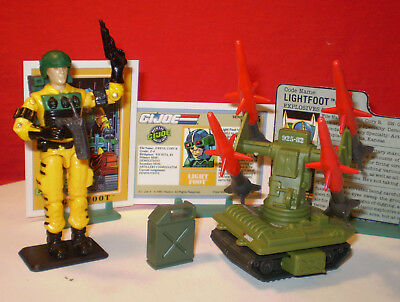 1983 Gi Joe Pac Rat Missile Launcher Drone & Operator 1988 Lightfoot + Cards ***