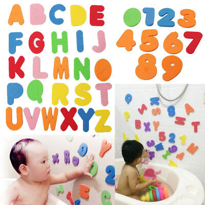 Interesting Alphanumeric Bath Sticker Early Educational Toy Shower Toy Kids Gift
