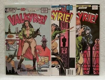 VALKYRIE #1 #2 #3 of 3 // COMPLETE 1988 Air Fighters Series NM+ 9/10+ CGC READY