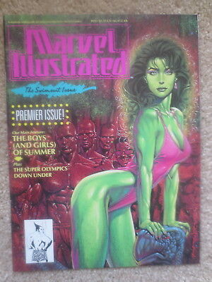 1991 Marvel Illustrated Comic Book No. 1 Premier Swimsuit Issue Nice