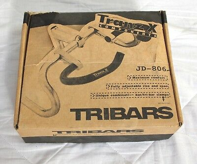 Vintage NOS JD-806 TRIBARS BY TRANZ x COMPONENTS CLAMPS  NOS Orig