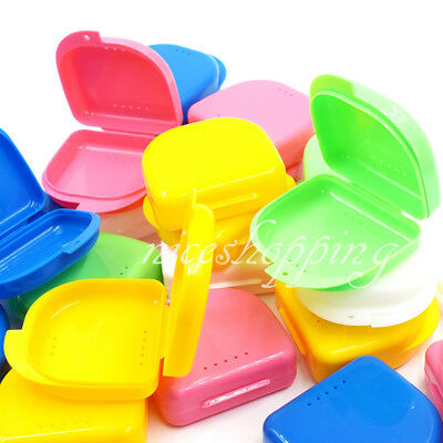 Dental Orthodontic Retainer Denture Storage Case Box Mouthguard Container Colors