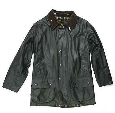 mens BARBOUR Waxed Jacket  Beaufort  A150 C46 / 117cm used - Green