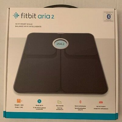 Fitbit Aria 2 Wi-Fi Smart Scale - Black