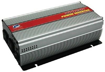 Car Power Inverter 800W Continuous For 12V Systems Auto Charging w/ Built-in Fan