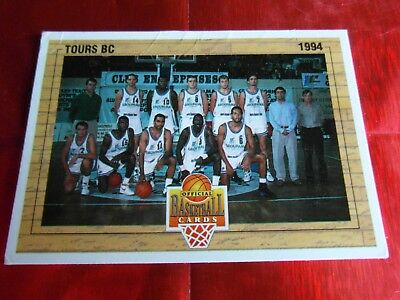 Panini Official Cards N°153 - Basket 1994 - Equipe Tours Bc