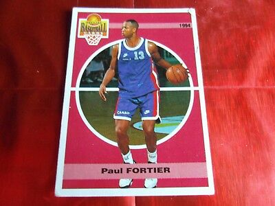 PANINI OFFICIAL CARDS N°116 - BASKETBALL 1994 SNB - Paul FORTIER - RACING PSG