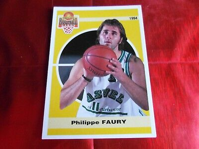 PANINI OFFICIAL CARDS N°132 - BASKETBALL 1994 SNB - Philippe FAURY - ASVEL