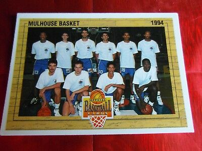 Panini Official Cards N°146 - Basket 1994 - Equipe Mulhouse Basket