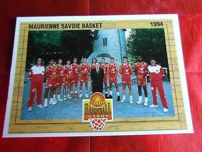 Panini Official Cards N°145 - Basket 1994 - Equipe Maurienne Savoie Basket