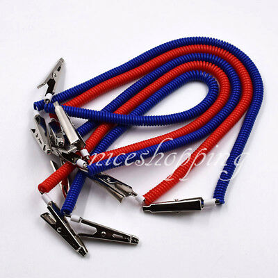 1Pc Dental Bib Clips Chains Napkin Holder Flexible Patient Coil Plastic Red Blue