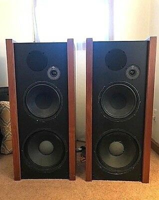 Rtr Series Iii Model E Rare Vintage Tower Speakers All Orig. Drivers Great Cond.