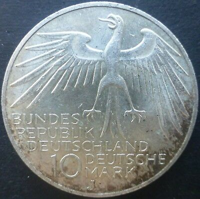 1972 Germany 10 Deutsche Mark Silver Coin Olympic Games