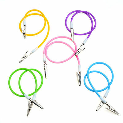1x Dental Bib Clip Chain with Silicone Cord Spring Heat Resisting Colorful NEW