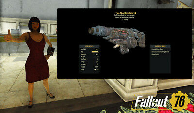 Fallout 76 (PC) 3🌟🌟🌟 Cryolator Two Shot Explosive Energy Weapon フォールアウト76