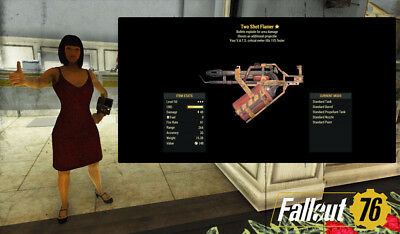 Fallout 76 (PC) 3🌟🌟🌟 Flamer Two Shot Explosive Exotic Weapon フォールアウト76