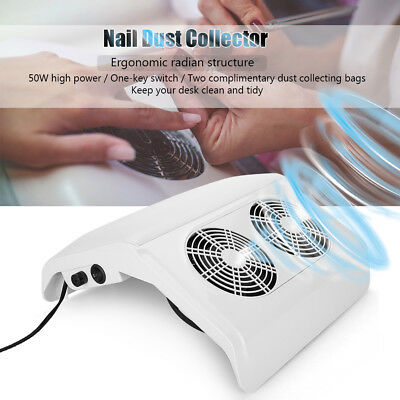Salon Suction Dust Collector Machine Vacuum Cleaner Tools Nail Art Manicure KitS