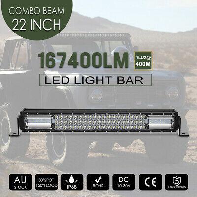 """20INCH Philips LED Light Bar Triple Row Combo Beam Work Driving Offroad 4WD 23"""""""